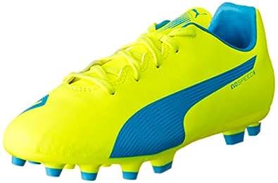 Puma Herren One 17.4 FG Fußballschuhe, Blau (Atomic Blue-White-Safety Yellow), 46 EU