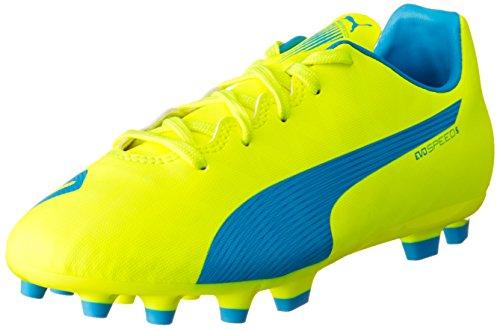 Puma Evospeed 5.4 Ag Jr Unisex-Kinder Fußballschuhe Gelb (safety yellow-atomic  blue