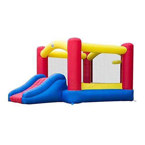 Castillo Hinchable 366x274x183cm Castillo Infantil Juego Niño de 3 a 10 Años Tobogan Rojo Azul