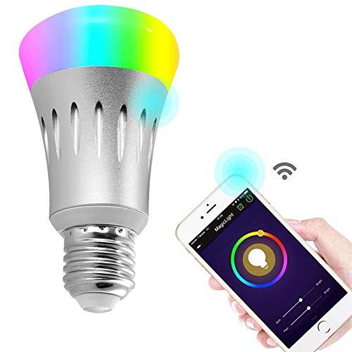 Wifi Led light bulbs ,Wallfire 7W E27 Wireless WiFi Remote Control Smart Bulb Lamp Light