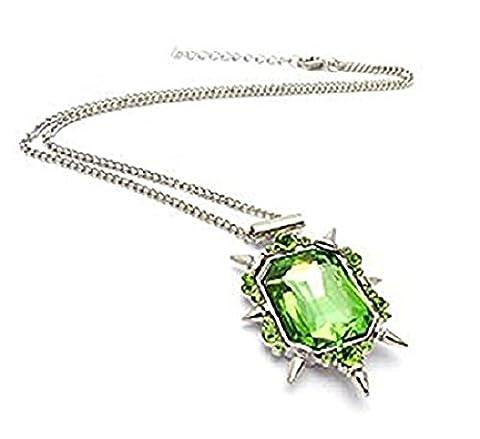 Collier avec pendentif en pierre verte de Zelena, sorcière de