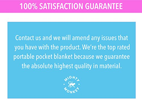 Portable Outdoor Picnic Pocket Blanket | Equipped w/ Waterproof Rain Hood, Zipper Pouch, Corner Pockets, Loops & Carabiner | Compact Beach Blanket for Camping, Picnics, Festivals, Travel & Outdoors