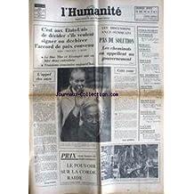 HUMANITE (L') du 05/12/1972 - GEORGES SEGUY - LE DUC THO ET KISSINGER - ENTRETIENS - LES CHEMINOTS - GREVE - BERLIET-CITROEN - TOUVIER - ALLENDE - HONDURAS - INTERALLIE - ETIENNE FAJON.