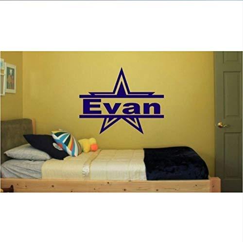 Dallas Star mit Namen für Schlafzimmer Wand Kinder Kunst Dekor Aufkleber Cowboys 58X58Cm (Dallas Cowboys Tattoos)