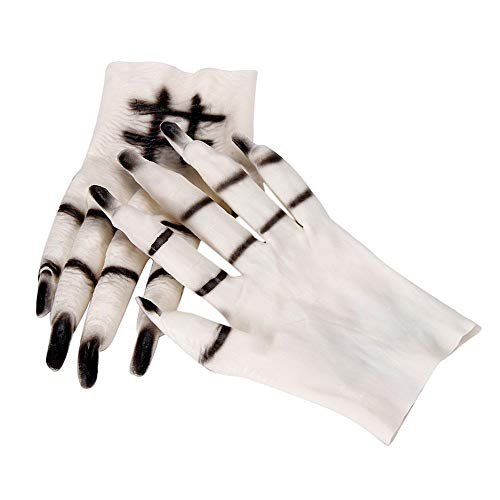 TYUBN Halloween Ghost Handschuhe Scary Cosplay Halloween Requisiten Kostüme Maskerade Party Supplies (Scary Günstige Halloween-kostüme Clown)