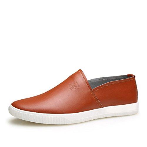 Le printemps et l'automne microfibre chaussures en cuir décontractée/Angleterre fixe chaussures de sport pieds des hommes/Chaussures tendance/chaussures casual A