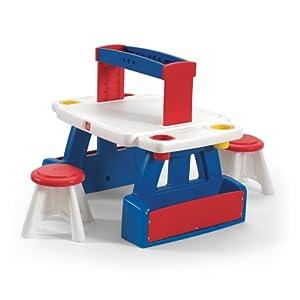 Step2 829900 Escritorio para niños Azul, Rojo, Blanco De plástico - Escritorios para niños (Azul, Rojo, Blanco, De plástico, 34 kg, CE EN 71, EE.UU., 991 mm)