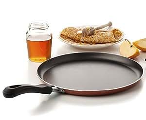 Large Crepe Pan Nonstick Coating Bakelite Handle - Easy Pancakes Omelette Fried Eggs Tortilla Pita Bread Crepes