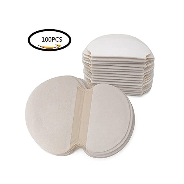 100 pcs Coussinets Anti Transpirant Jetable Patch de Transpiration  Absorbante des Aisselles ... 880e98b7205