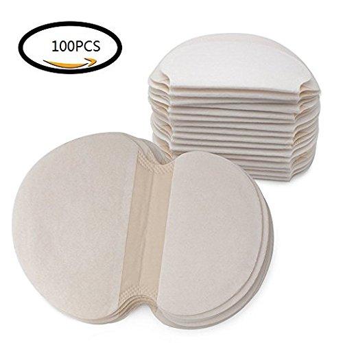 100 piezas Achelpads, Desechables almohadillas para el sudor de axilas protección contra el sudor y desodorante manchas, puro del color es suave absorbente
