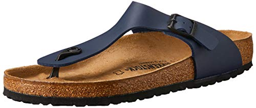 BIRKENSTOCK Gizeh BF Blue 44 (Blue Suede Shoes Damen)