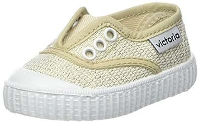 victoria Unisex-Kinder Inglesa Elástico Lurex Sneaker, Gold (ORO), 31 EU