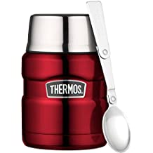 Thermos Stainless King Food Flask, Red, 470 ml