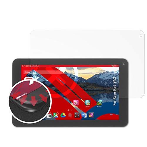 atFolix Schutzfolie passend für Xoro Pad 9A2 Folie, entspiegelnde & Flexible FX Bildschirmschutzfolie (2X)