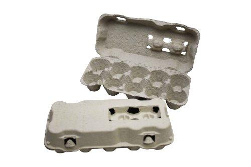 85 Stück 10er Eierschachteln ohne Aufdruck grau