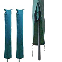 Ardisle 2 Pack Rotary Washing Line Cover Clothes Protective For Protection Airer Drier Waterproof Garden Parasol Wash Line Covers Green Clean Dry For