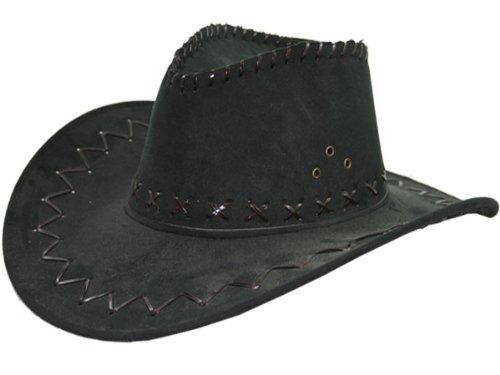 Kostüm Billig Cowgirl - Cowboyhut schwarz