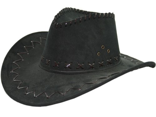 Cowboyhut schwarz (Billig Hut)