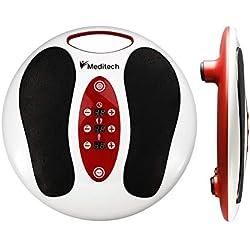 Lsnisni Massage électromagnétique des pieds, 25 modes de massage, 99 intensités réglables, 4 électrodes pour électrodes corporelles, soins du pied et relaxation du stress à la maison et au bureau
