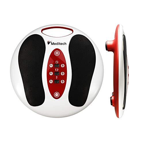 Lsnisni Massage électromagnétique des pieds, 25 modes de massage, 99 intensités réglables, 4 électrodes pour électrodes corporelles soins du pied et relaxation du stress à la maison et au bureau
