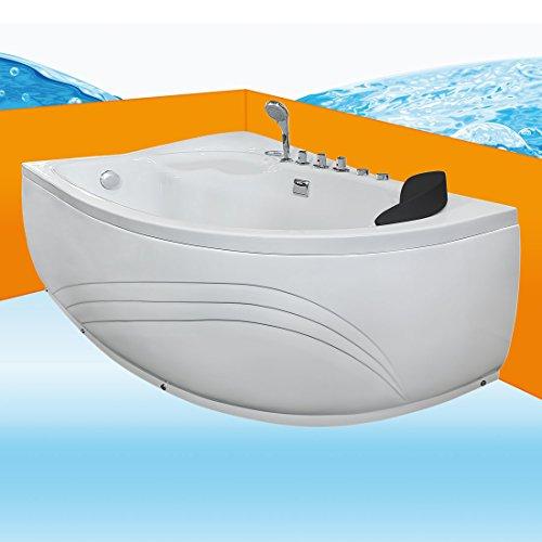 Eckwanne Whirlpool Raumsparwunder Pool Badewanne A617-A-ALL 100x160, Selfclean:aktive Schlauch-Reinigung +70.-EUR, Sonderfunktion1:Ausstattung B +50.-EUR (Jet-whirlpool 50)