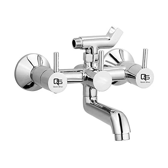 QUICK SILVER Delta Brass Wall Mixer With Crutch (Chrome Finish)