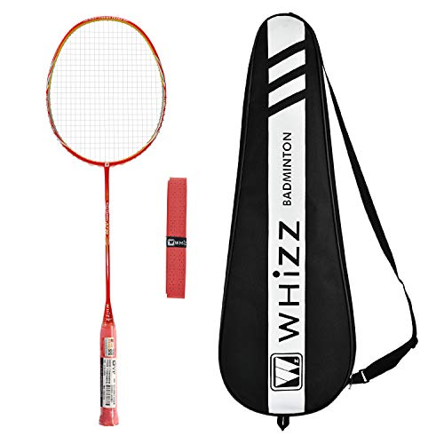 Whizz A730 Graphit Badminton Schläger Profi 80g 26lbs (Rot)