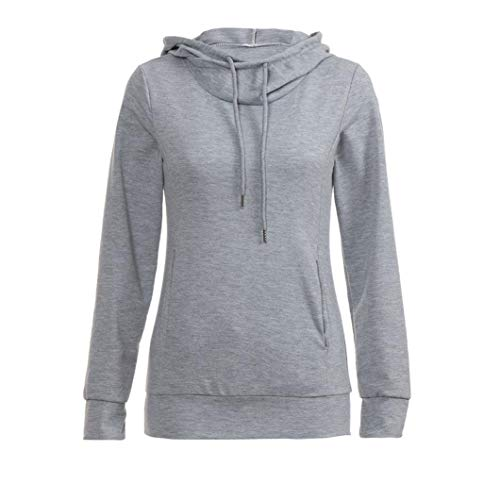 Beikoard Damen Kapuzenpullover,Frauen Mode Langarm Pullover mit Kapuze Tasche Sweatshirt Pullover...
