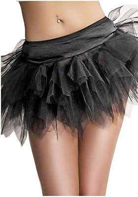 Enagua negro 5 capas / tutú del corsé / traje, tamaño S-6XL