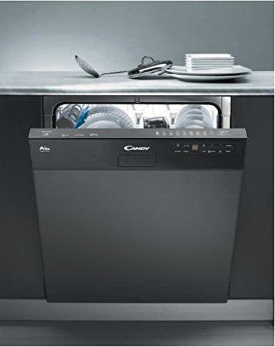Candy CDS2D35B Semi intégré 13places A++ lave-vaisselle - Lave-vaisselles (Semi intégré, Taille maximum (60 cm), Noir, Condensation, 13 places, 46 dB)