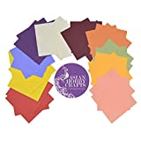 #7: AsianHobbyCrafts Multicolor Paper Sheets : Pack of 100 sheets : Size 145 x 145 mm : for Origami, Scrapbooking, Hobby crafts, Project Work etc.