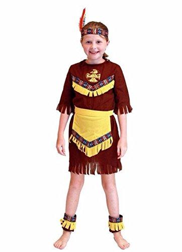Ideen Für Kostüm Indische Billig - Inception Pro Infinite Größe M - 6 - 7 Jahre - Kostüm - Verkleidung - Karneval - Halloween - Indisch - Native American - Ethnisch - Braun - Kleines Mädchen