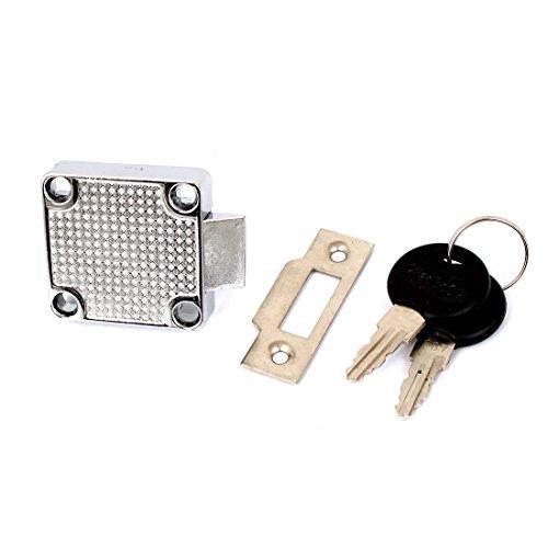 Schublade Schrank Metall Riegel Quadratisch Locking Schloss mit 2Schlüssel