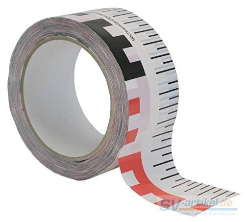 Klebeband mit Masseinteilung [50 mm] für Sachverständige/Gutachter (Rissbreiten)