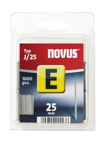 Novus Nägel 25 mm, 1000 Stück vom Typ J/25, optimales Heftmittel zur Befestigung von Zierleisten und Eckleisten