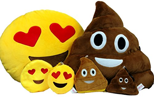 global-rankings-poop-emoji-uberwurf-kissen-mit-kostenlosem-schlusselanhanger-kette-soft-geld-geldbor