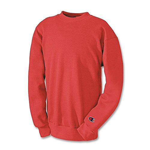 Champion Boys Big Powerblend Eco Fleece Sweatshirt, Scarlet, L (Champion Sweatshirt Heavyweight)