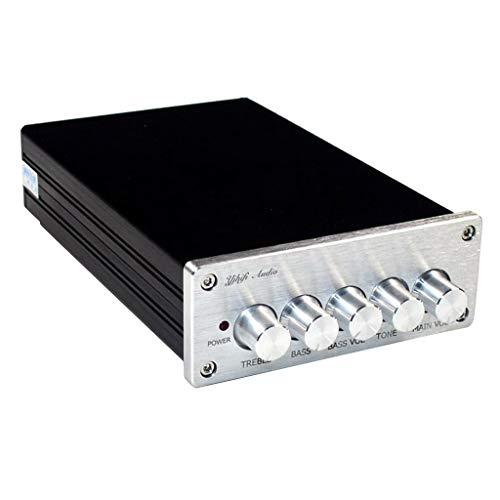 perfk Mini HiFi 2.1 Channel Verstärker Bluetooth 4.2 Leistungsverstärker Bass Hi-Fi Stereo Verstärker Amplifier, DC18V-24 2.1 A Mini