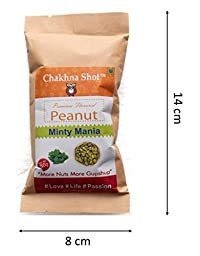 Chakhna Shot Minty Mania Flavour Peanut Pouch – Time Pass Snacks – Ready to Eat Premium Healthy Spicy Snack Mix – Indian Snack - Masala Peanuts 50g (Pack of 4)