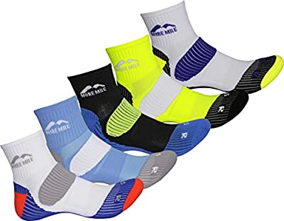 More Mile London (5 Pair Pack) Mens Cushioned Running Socks