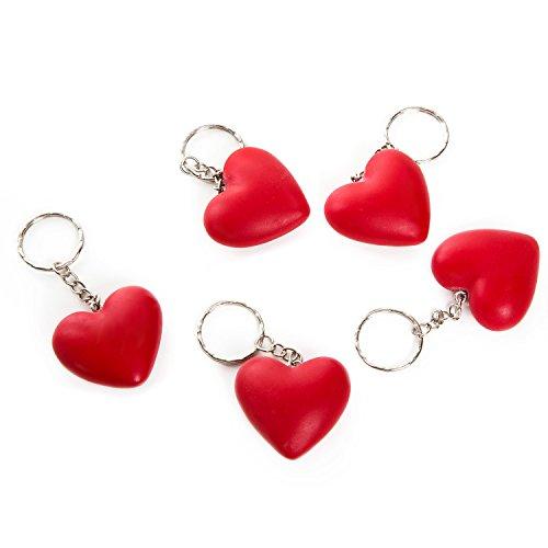 5pezzi rosso piccolo portachiavi a forma di cuore del pendente 4cm senza catena; perfetto come piccolo gast regali di natale, regalo, ideali per feste o give away per matrimonio, per clienti