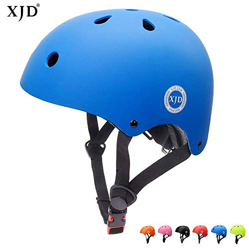 XJD Kinder Jugend Fahrradhelm Klassiker 1.0 CE-Zertifizierung für Sport Skateboard Motorrad 3-13 Alt (Blau M)