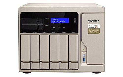 QNAP TS-877-1600-8G 8 Bay Desktop-NAS-Gehäuse mit 8GB RAM