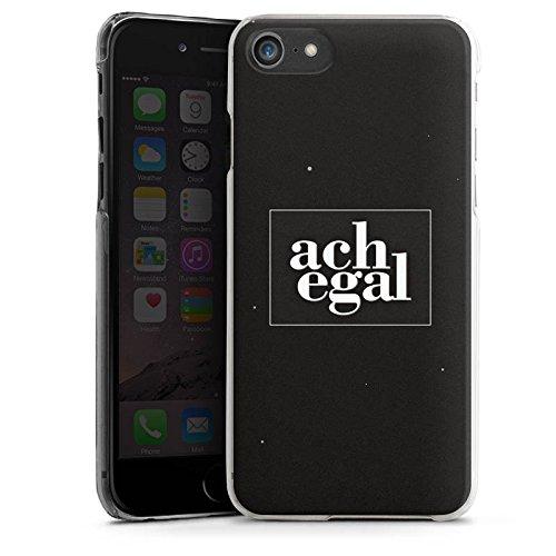 Apple iPhone X Silikon Hülle Case Schutzhülle Sprüche Ach egal Schwarz Hard Case transparent