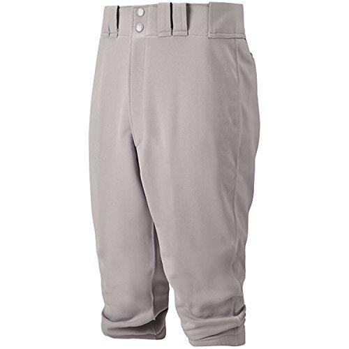 Jugend 6-pocket Pant (Mizuno Youth Select Hose kurz, Jungen Mädchen, 350312.9191.06.L, grau, L)