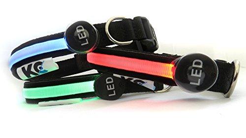 Une Meilleure visibilité et sécurité de rechargeable USB pour chien LED collier pour chien–Ultra Lumineuses LED lumineux de–Se connecte à des appareils–Sans Piles–Voir où votre chien est dans ...