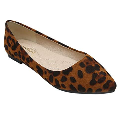 Yiliankeji Zapatos Mujer Bailarinas - Mocasines Pisos Ballet Informal Comodidad Estampado de Leopardo...