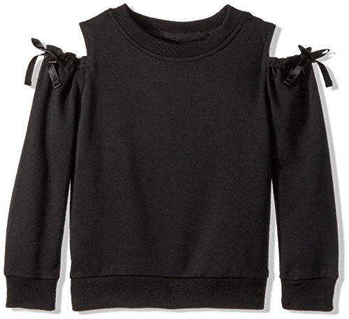 Hudson Toddler Girls' Audrey Sweatshirt, Black, 3T - 3t-jumper