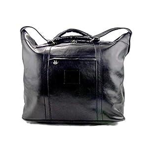 Herren ledertasche reisetasche umhangetasche mit griffe schultertasche sporttasche seesack leder schwarz