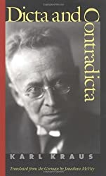 Dicta and Contradicta by Karl Kraus (2001-05-01)